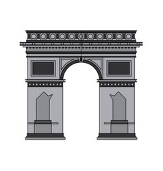 Color image cartoon monument arch antique vector