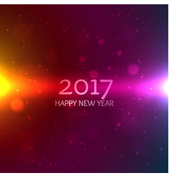 colorful 2017 happy new year background greeting vector image vector image