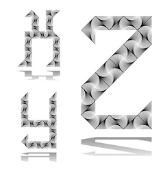 Design abc letters from x to z vector