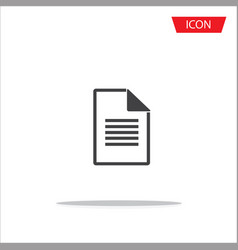 document file icon on white background vector image