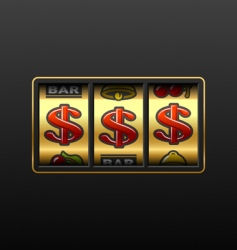 dollar jackpot vector image vector image