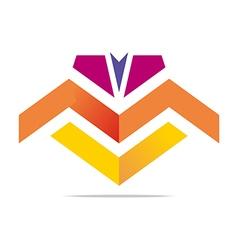 Element letter m arrow symbol icon vector