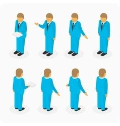 Figures of men in suits vector image vector image