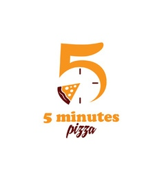 five minutes pizza vector image vector image