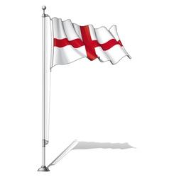 Flag pole england vector