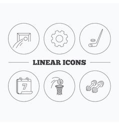 Football ice hockey and fitness sport icons vector