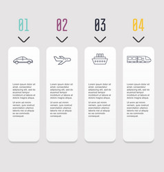 infographic templates for business can be used vector image vector image