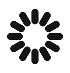 Loading circle sign icon simple style vector