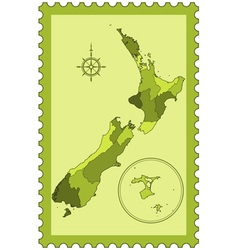 New zealand on stamp vector