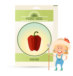 pack of pepper seeds icon vector image
