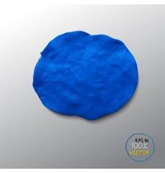 Plasticine blue figure vector image vector image