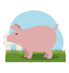 pork farm animal icon vector image vector image