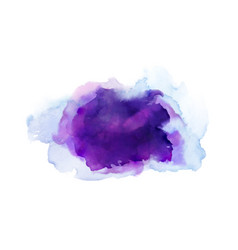 Purple violet lilac and blue watercolor stains vector