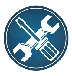 Screwdriver and wrench vector image