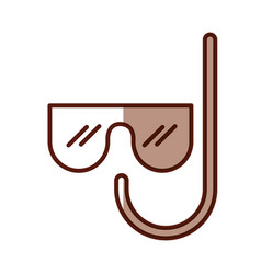 Shadow mask and snorkel cartoon vector