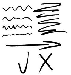 Stroke marker arrow tick and cross vector image