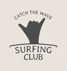 Surfing club logo symbol or icon design template vector