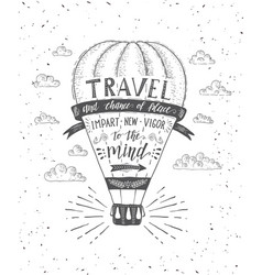 travel of air balloon vector image vector image