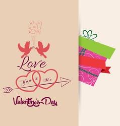 Valentine background retro vector