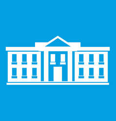 White house usa icon white vector