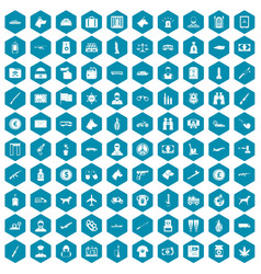 100 smuggling icons sapphirine violet vector
