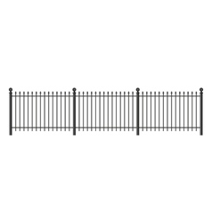 Black forged lattice fence vector image