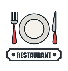 Menu restaurant delicious food line isolated vector