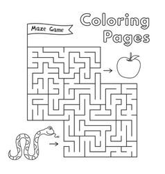 Cartoon snake maze game vector
