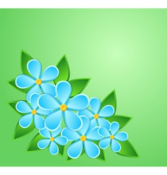 Greeting card paper flower with a place for text vector