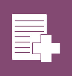 icon medical form with cross vector image