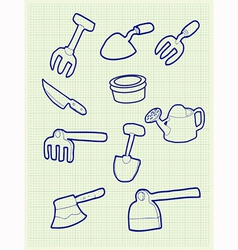 Gardening iconv vector image