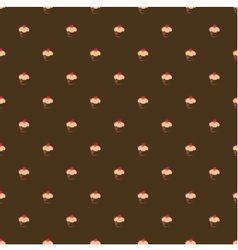 Tile cake wallpaper brown background or decoration vector