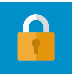Lock icon in flat design style vector