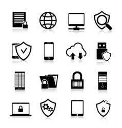 Data Protection Icons vector image