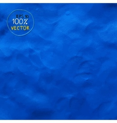 Plasticine finger textured blue color background vector