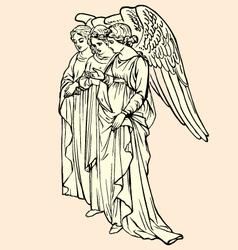 vintage of angels vector image