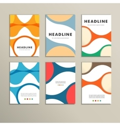 Set of covers with abstract figures vector