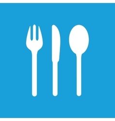 Table utensil icon white vector