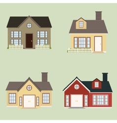 Old house buildings vector