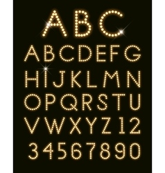 glowing letters vector image