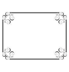 Calligraphy ornamental frame vector