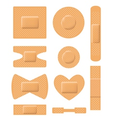 Set of medical plasters vector