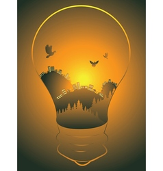 City in a lightbulb4 vector