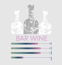 Wine info graphic vector