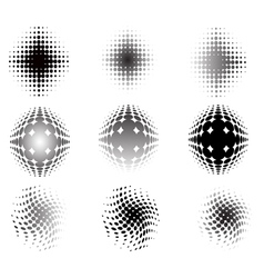 9 circular fades vector