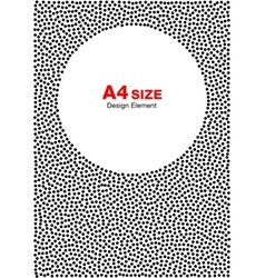 Abstract Halftone Dots Circle Background A4 size vector image vector image