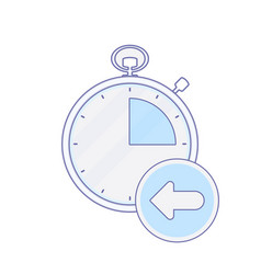 Alarm arrow clock hour minute time timer icon vector