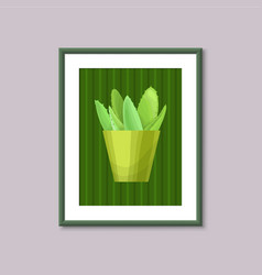 Art painting with succulent vector