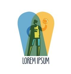 Basketball logo design template sports or vector