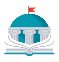 Books library icon vector